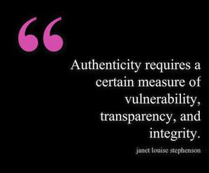 Authenticity and you.
